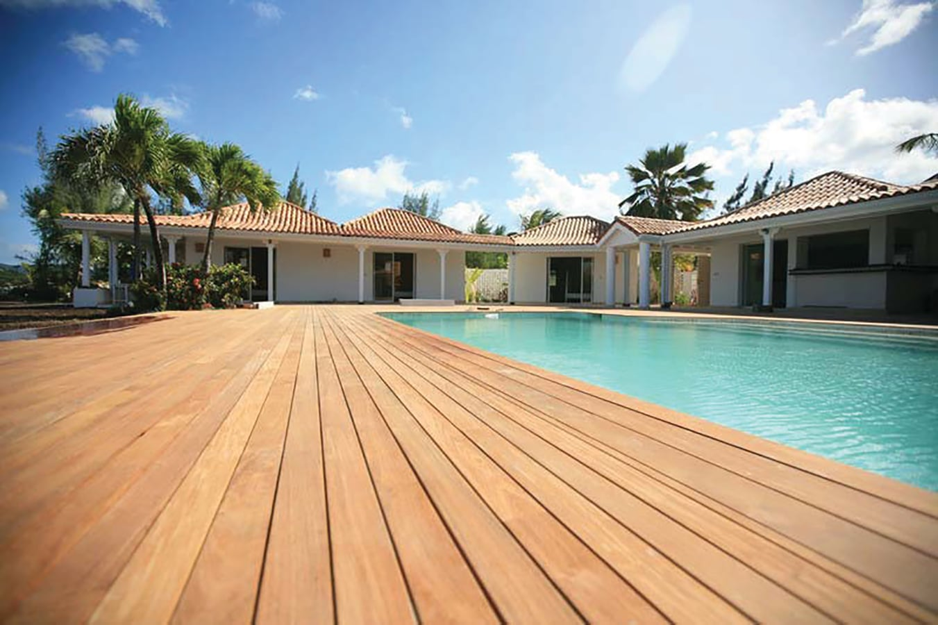 exotic wood deck board